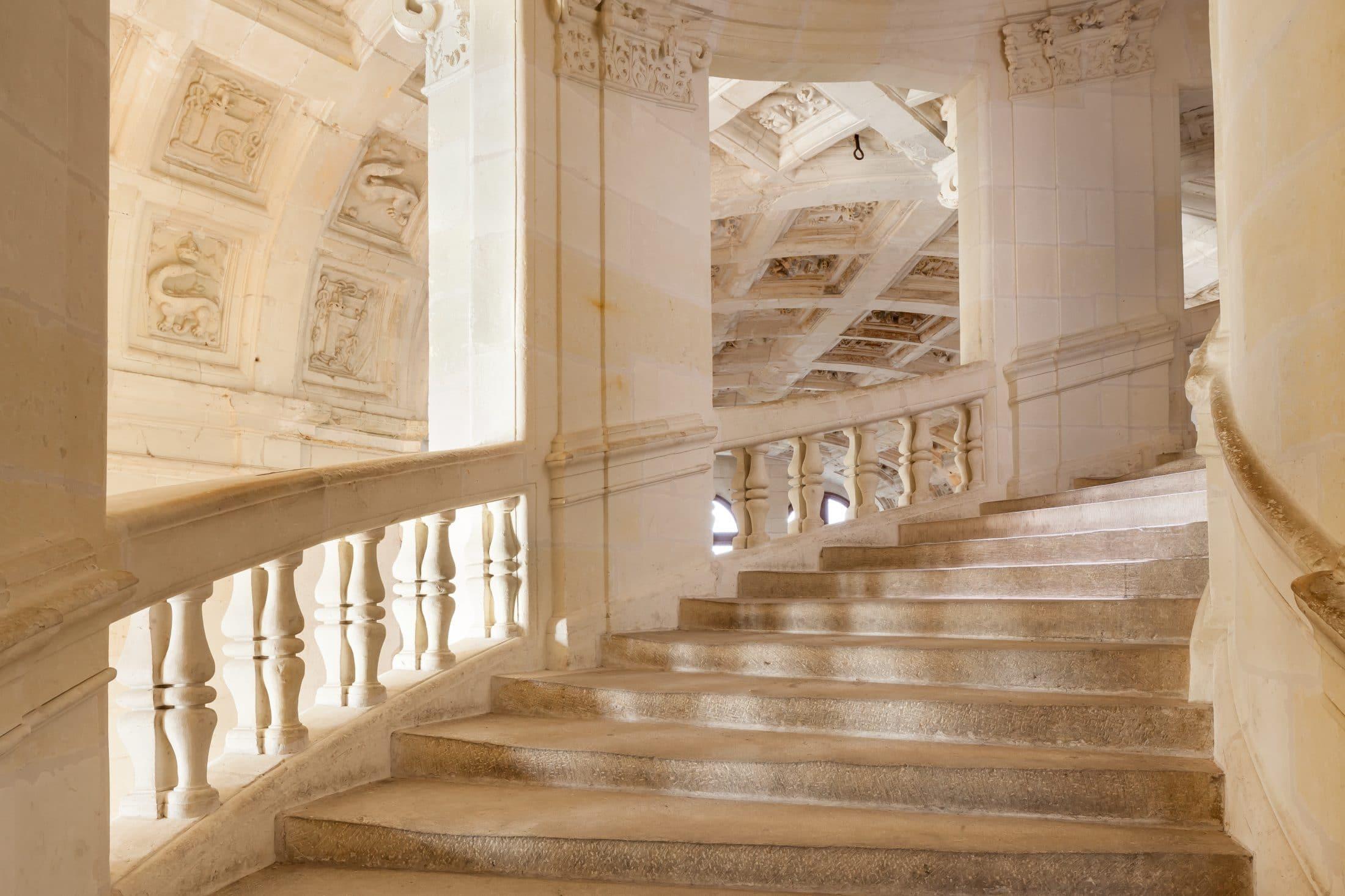фото лестницы замка шамбор было